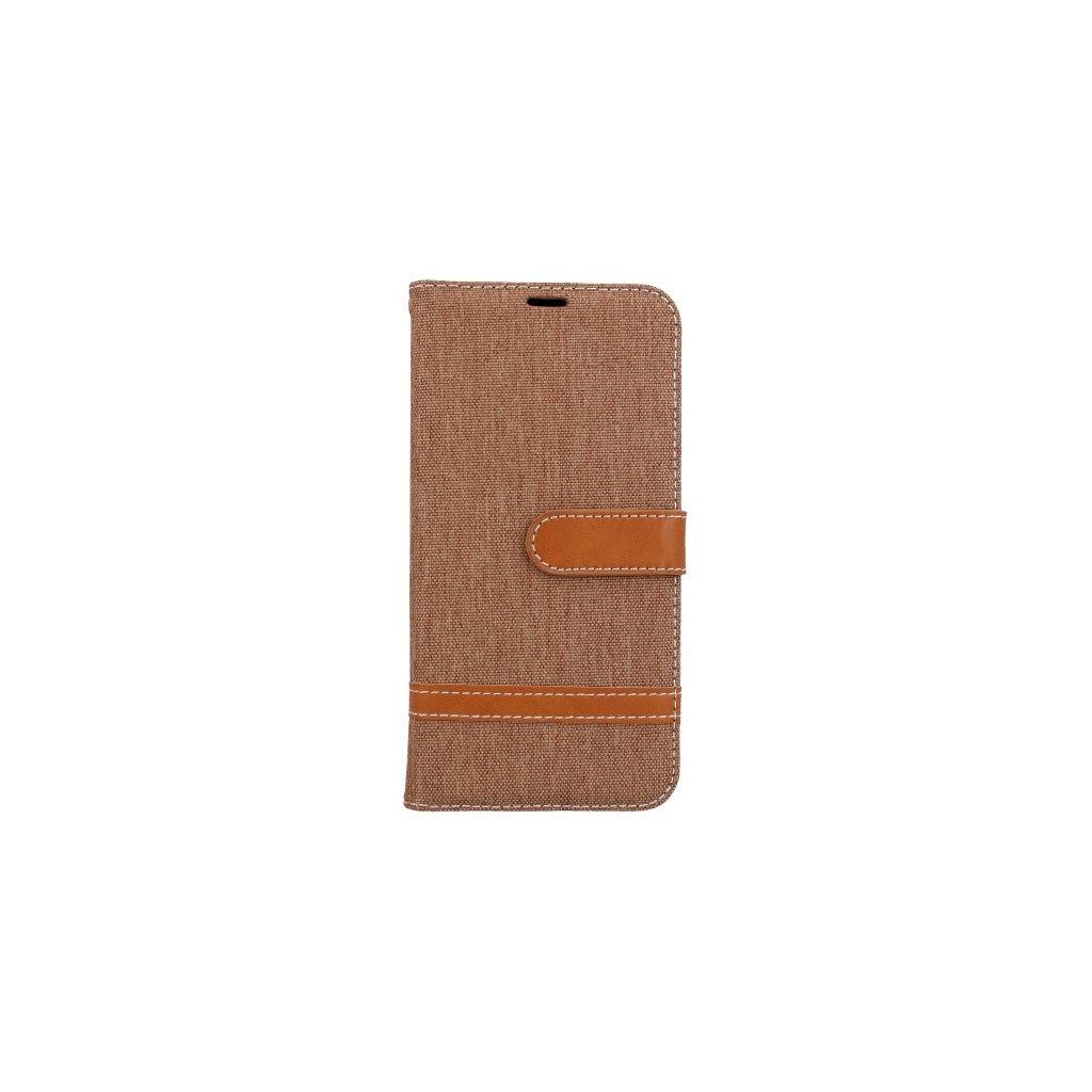 Flipové puzdro na Huawei P20 Lite džínsové hnedé