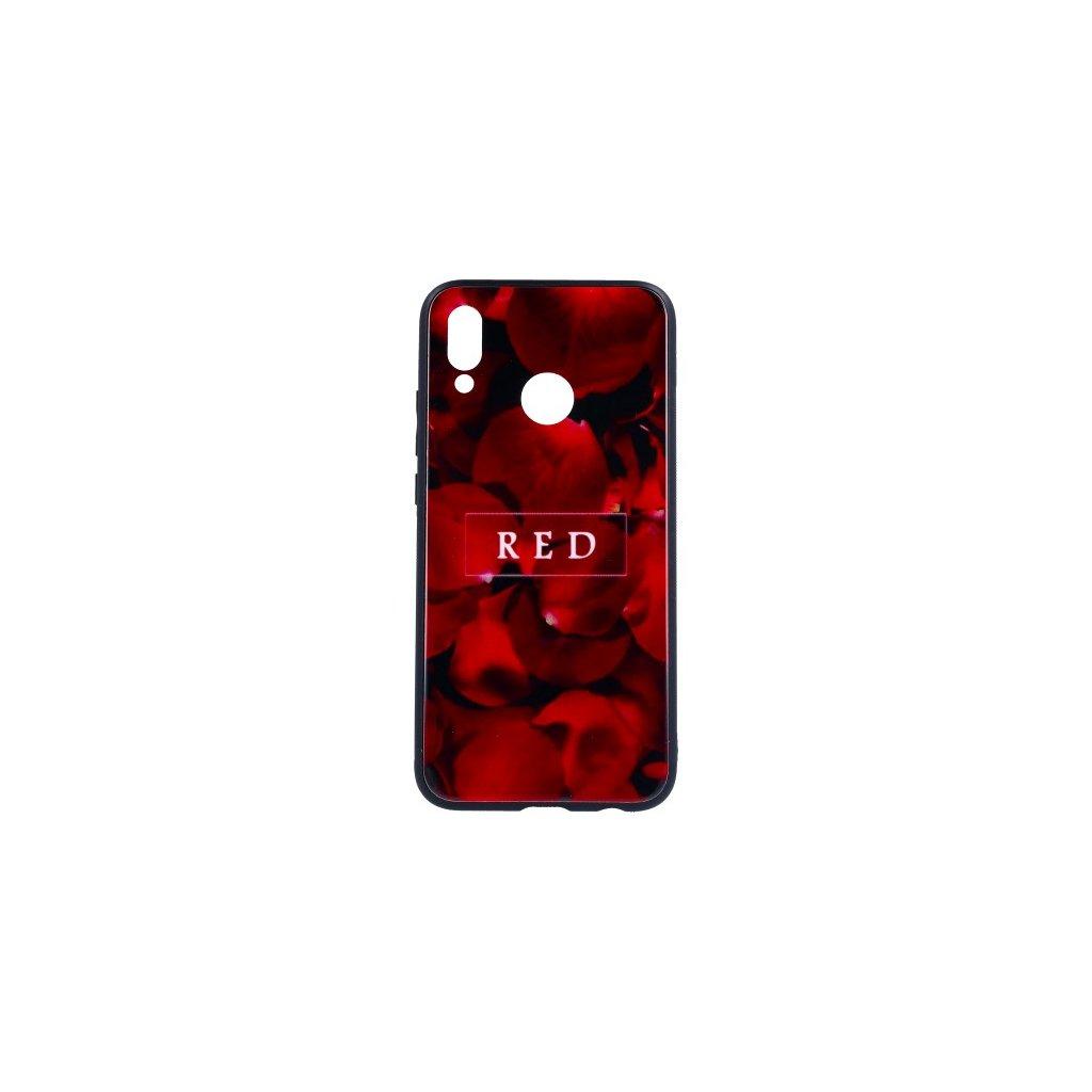 Zadný pevný kryt GLASS na Huawei P20 Lite Red