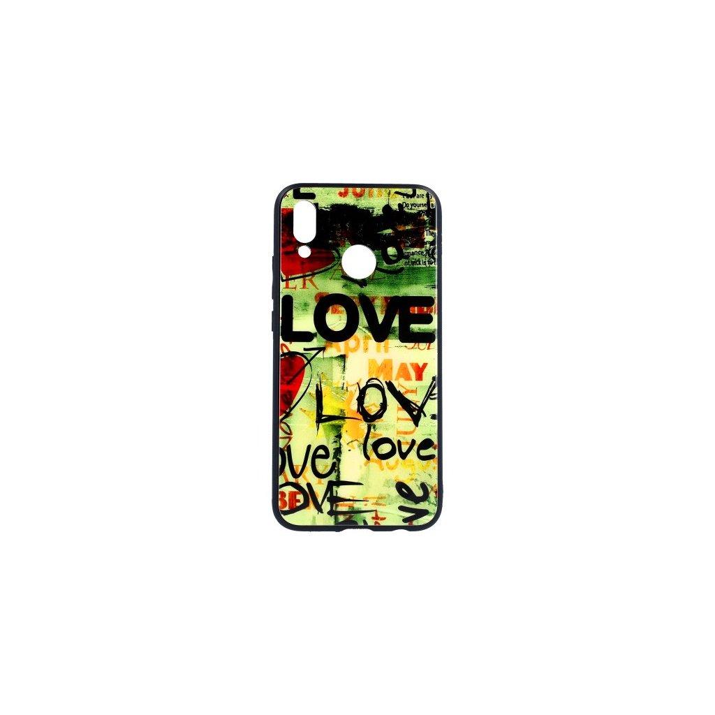 Zadný pevný kryt GLASS na Huawei P20 Lite Love
