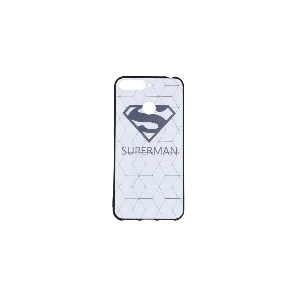 Zadný 3D silikónový kryt na Huawei Y6 Prime 2018 Biely Superman