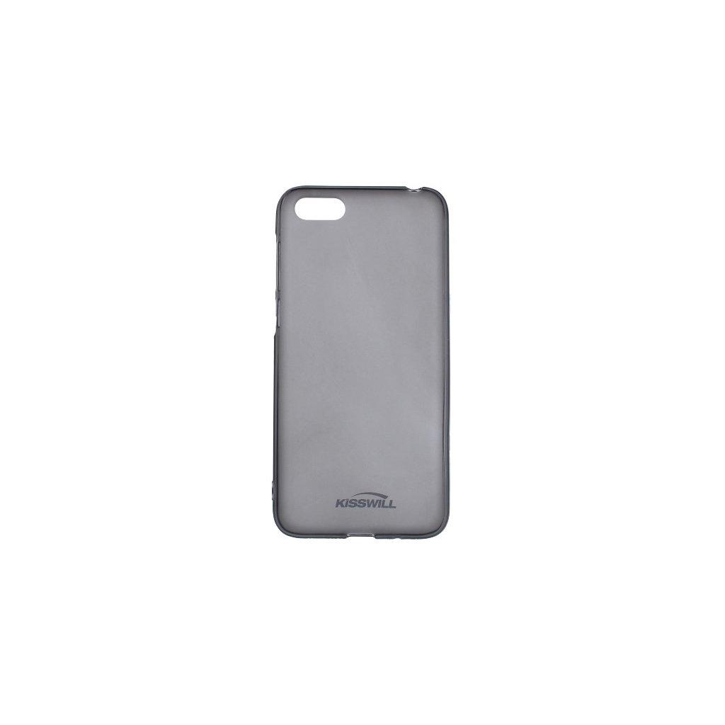 Zadný silikónový kryt Kisswill na Huawei Y5 2018 tmavý