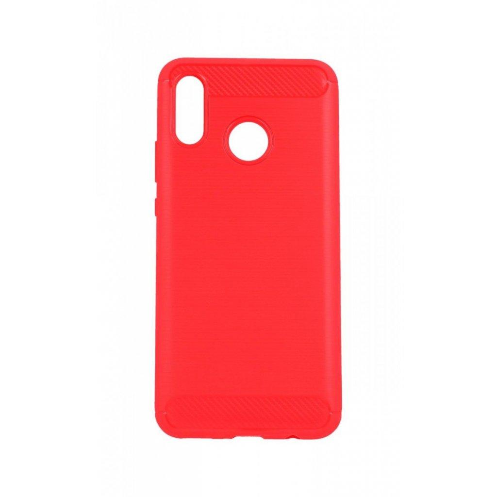 Zadný silikónový kryt na Huawei Nova 3 červený