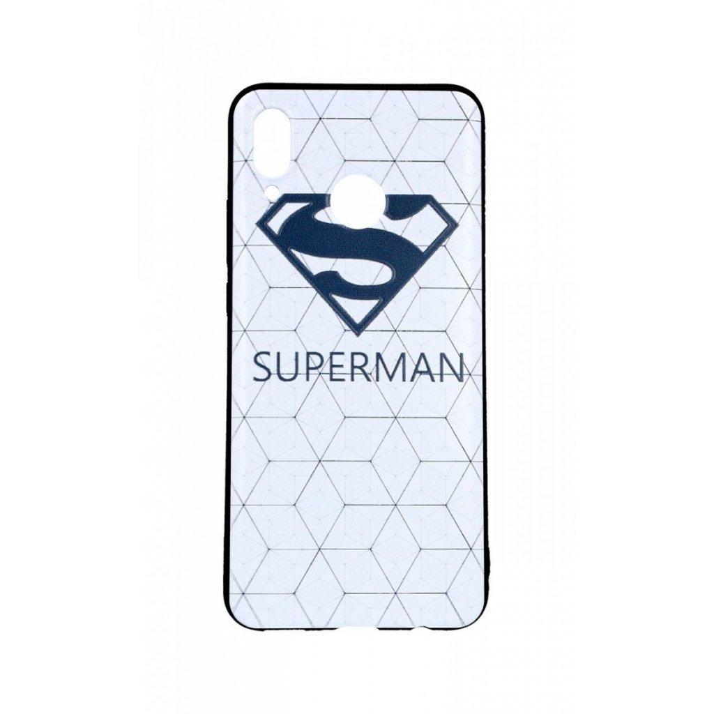 Zadný 3D silikónový kryt na Huawei Nova 3 Biely Superman