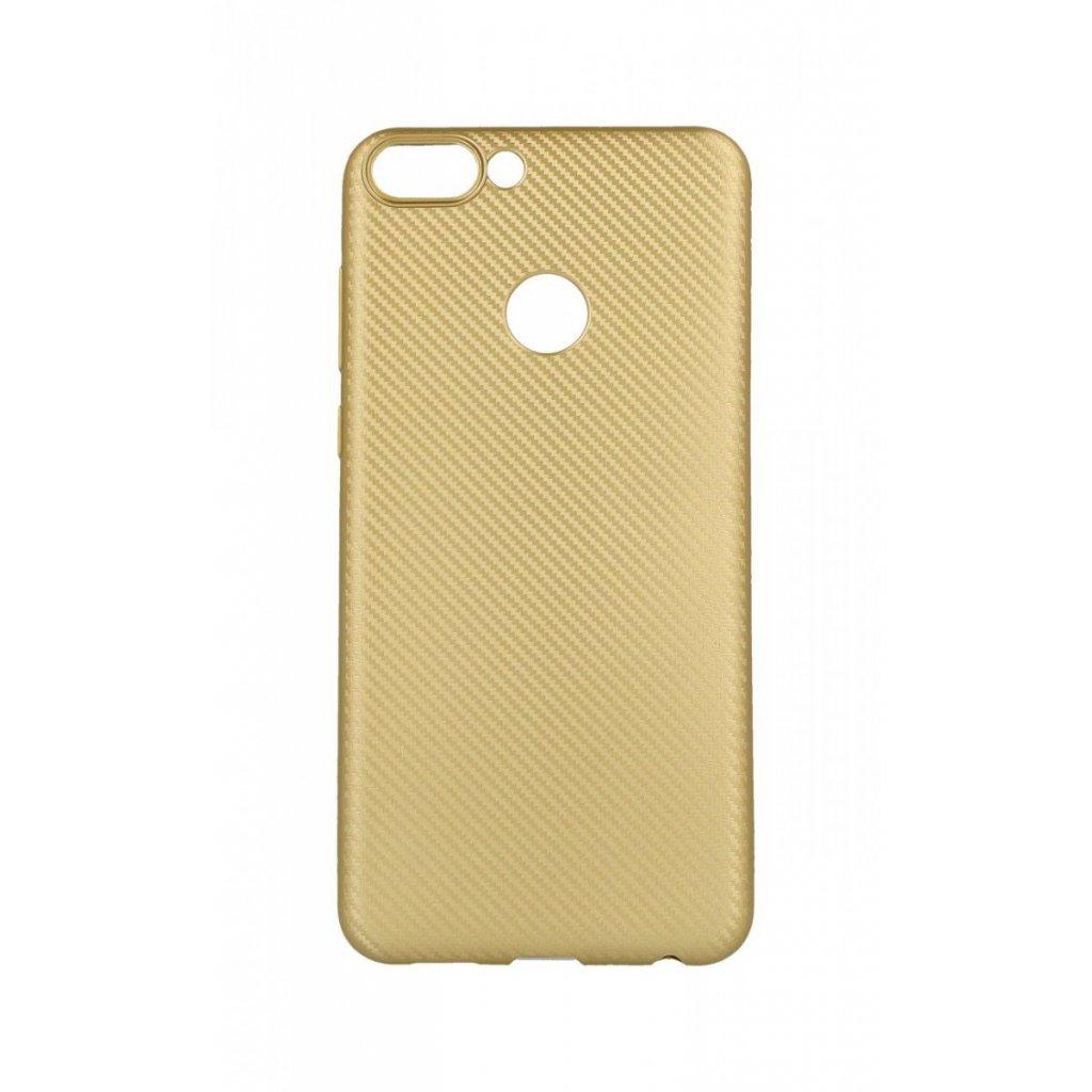 Zadný silikónový kryt na Huawei P Smart Carbon zlatý
