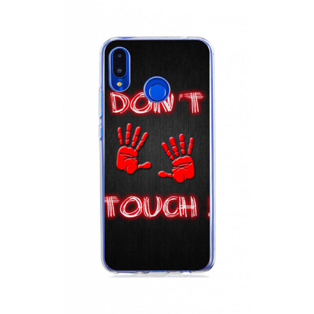 Zadný silikónový kryt na Huawei Nova 3i Dont Touch red