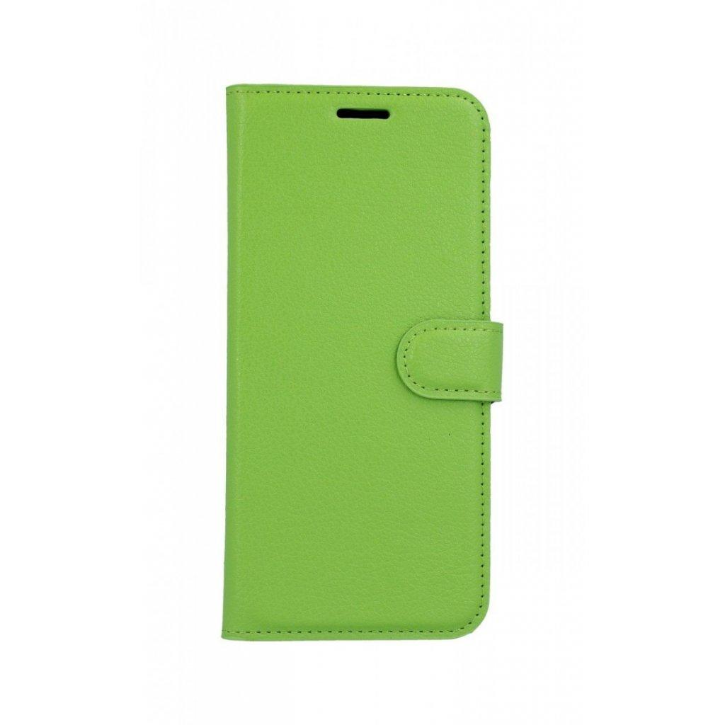 Flipové puzdro na Huawei Nova 3i zelené s prackou