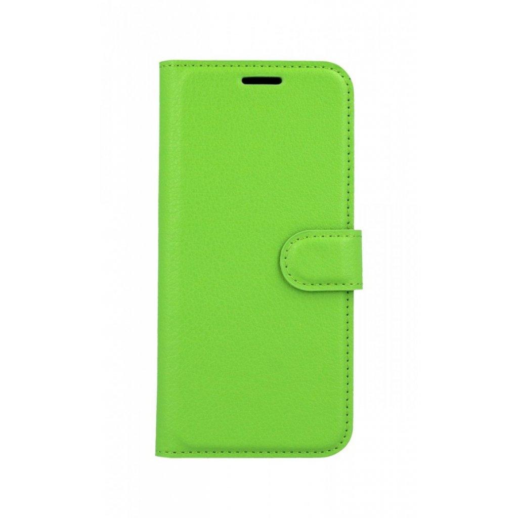 Flipové puzdro na Huawei P20 Lite zelené s prackou