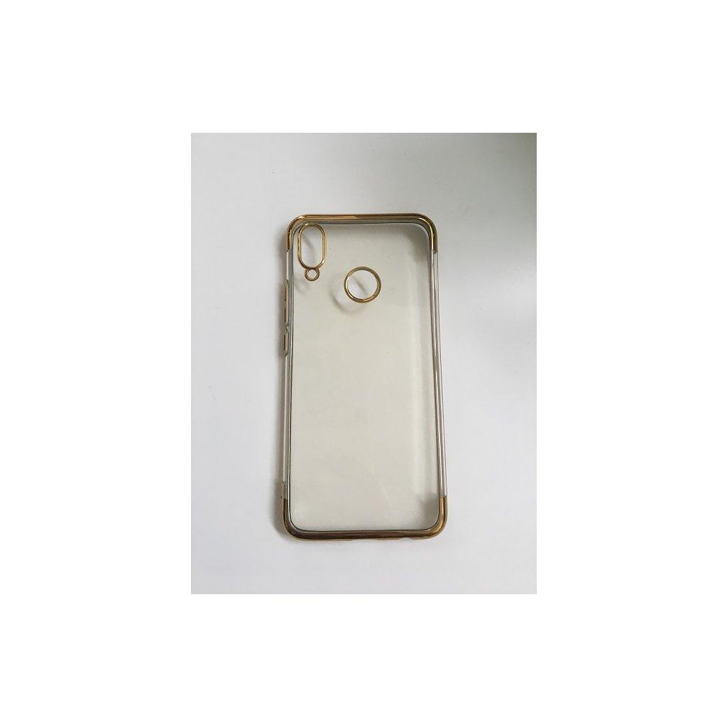 Zadný silikónový kryt na Huawei P20 Lite Frame zlatý