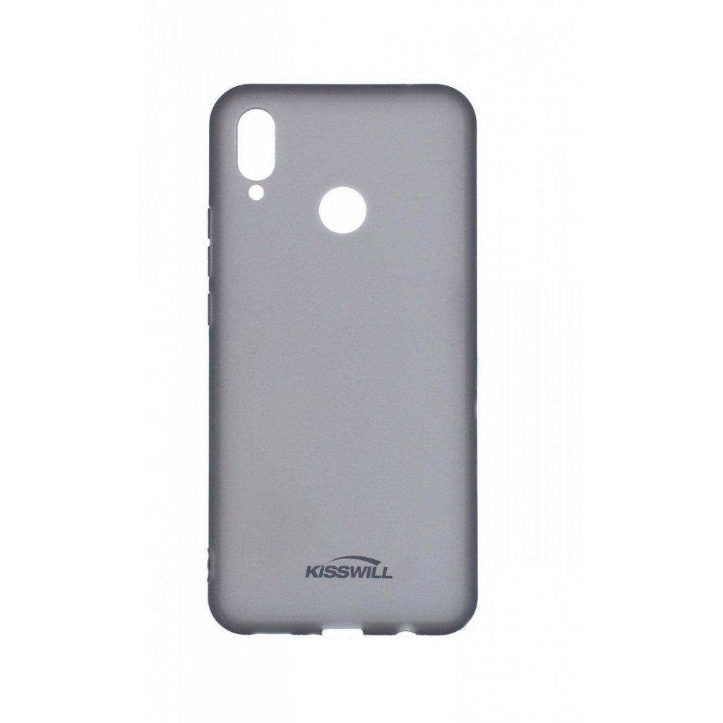 Zadný silikónový kryt Kisswill na Huawei Nova 3i tmavý