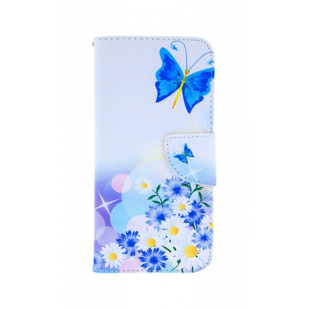 Flipové puzdro na Huawei P Smart 2019 Biele s motýlikom