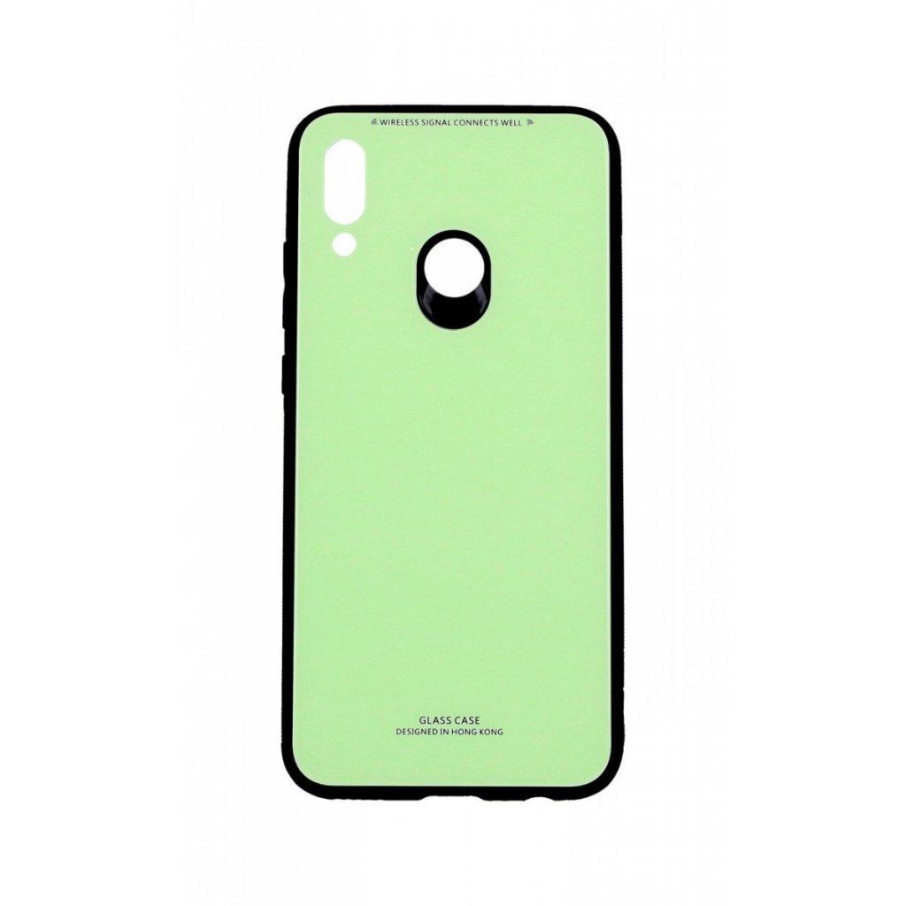 Zadný pevný kryt GLASS na Huawei P Smart 2019 zelený