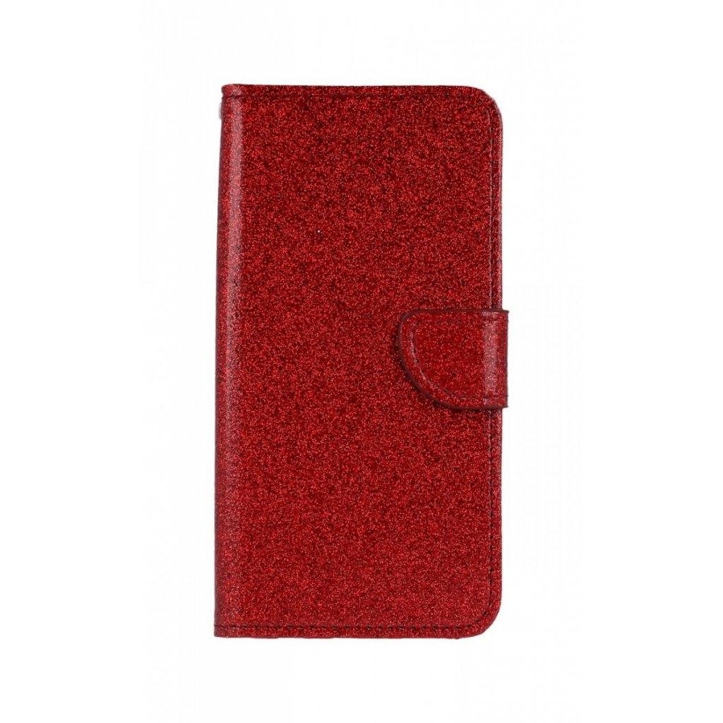 Flipové puzdro na Huawei P Smart 2019 glitter červené