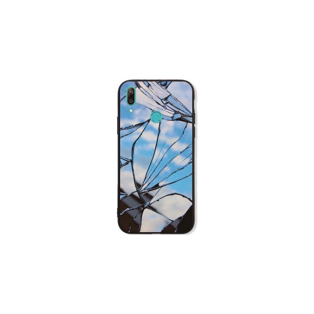 Zadný pevný kryt LUXURY na Huawei Y7 2019 Blue Broken