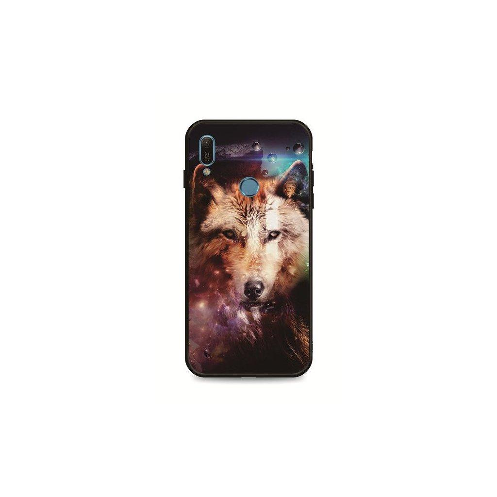 Zadný pevný kryt LUXURY na Huawei Y6 2019 Wolf