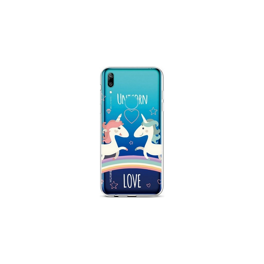 Zadný silikónový kryt na Huawei Y6 2019 Unicorn Love