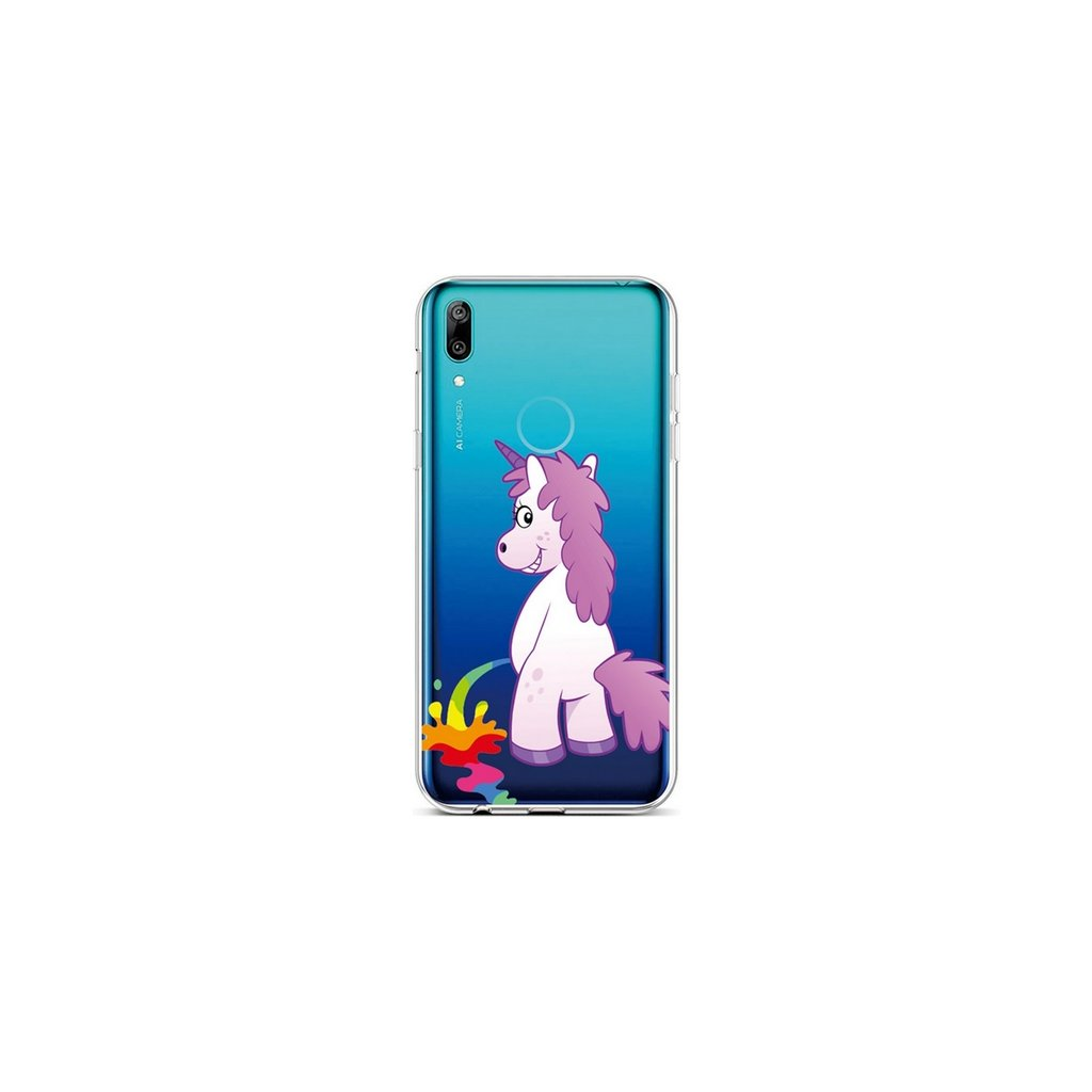 Zadný silikónový kryt na Huawei Y6 2019 Rude Unicorn