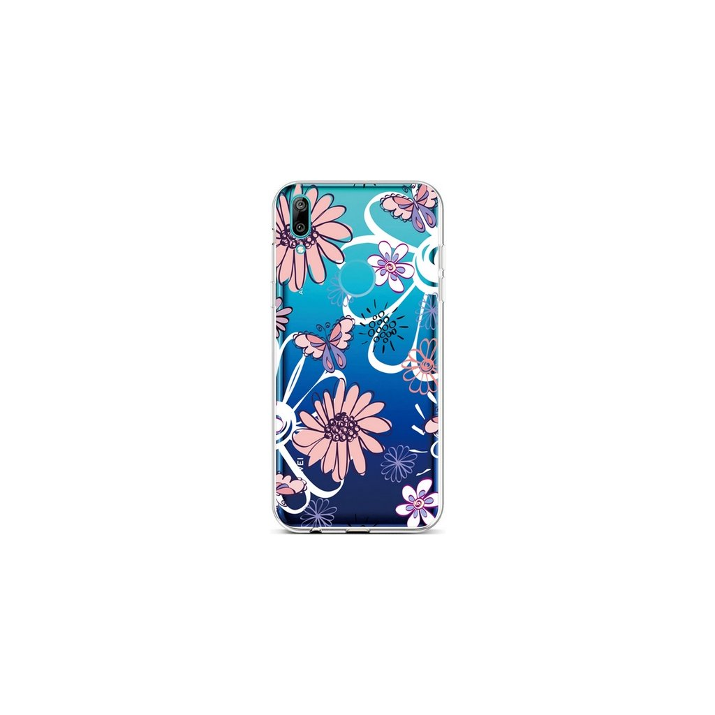 Zadný silikónový kryt na Huawei Y6 2019 Flowers