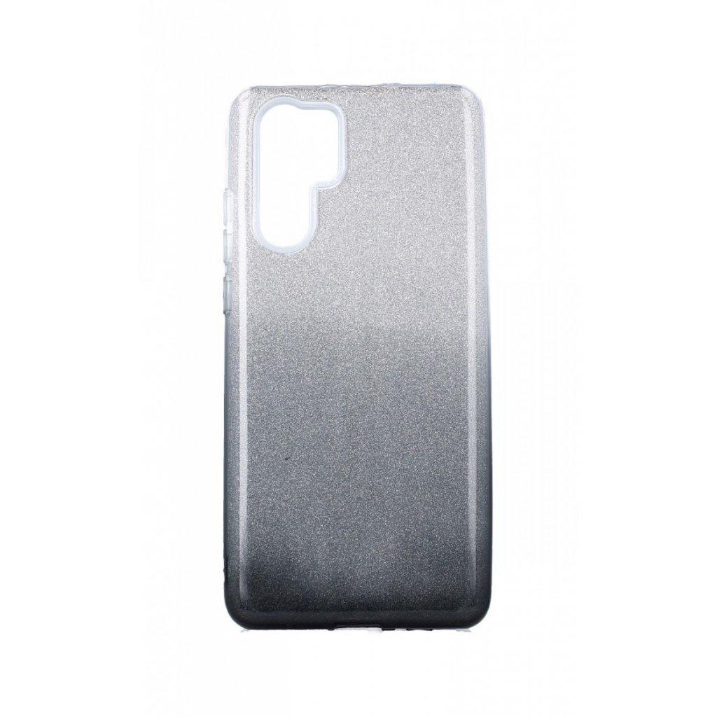 Zadný pevný kryt na Huawei P30 Pro glitter strieborno-čierny
