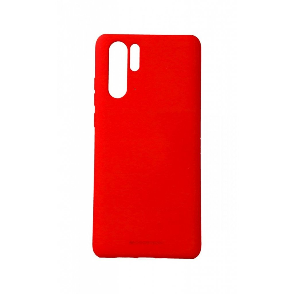 Zadný silikónový kryt Mercury Soft Case na Huawei P30 Pro červený