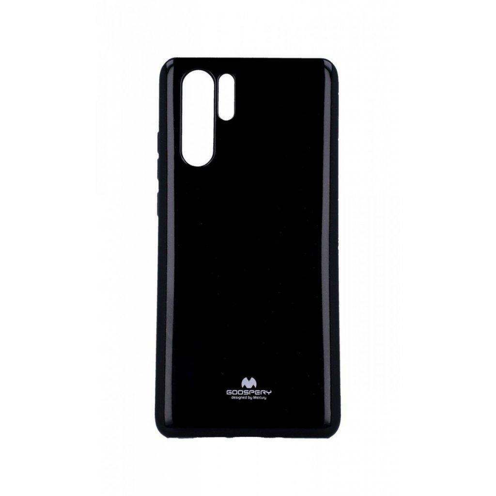 Zadný silikónový kryt Mercury Jelly Case na Huawei P30 Pro čierny