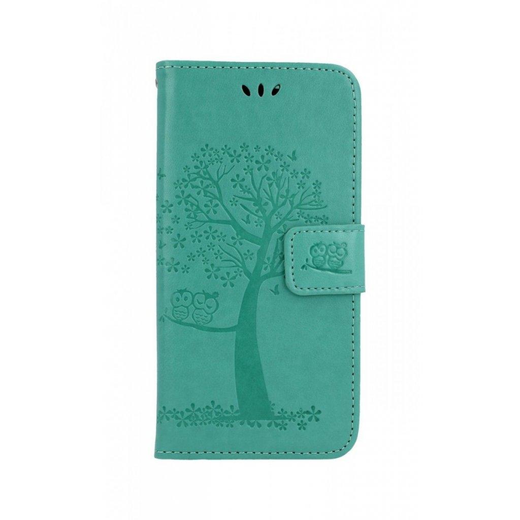 Flipové puzdro na Huawei Y6 2019 Zelený strom sovičky