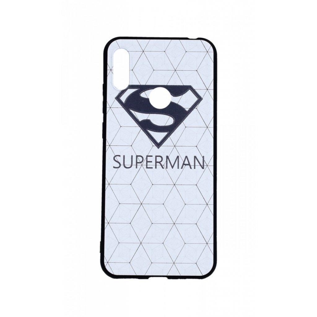 Zadný 3D silikónový kryt na Huawei Y6 2019 Biely Superman