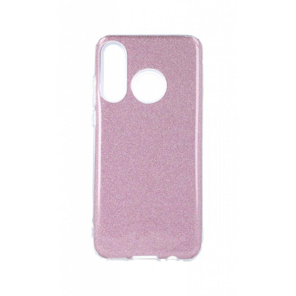 Zadný pevný kryt Forcell na Huawei P30 Lite glitter ružový