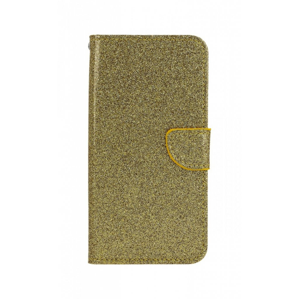Flipové puzdro na Huawei Y6 2019 glitter zlaté