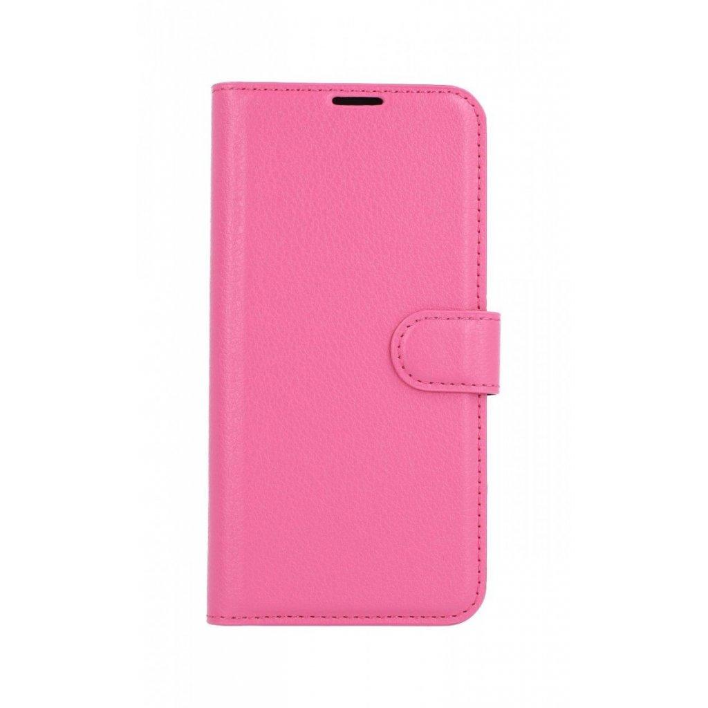 Flipové puzdro na Huawei P30 Lite ružové s prackou