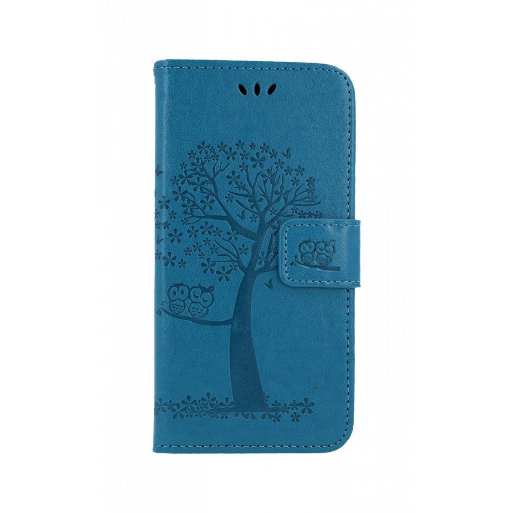 Flipové puzdro na Huawei P30 Lite Modrý strom sovičky