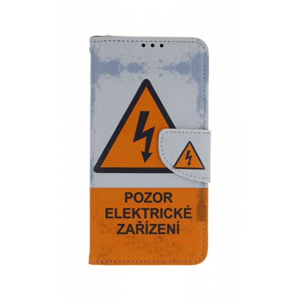 Flipové puzdro na Huawei P30 Lite Pozor elektrické zariadenie