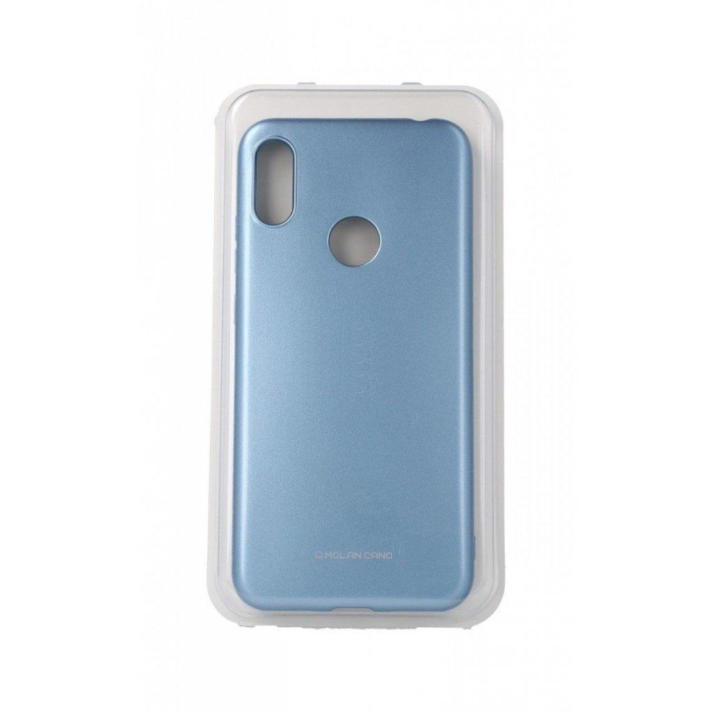 Zadný silikónový kryt Molan Cano Jelly na Huawei Y6 2019 modrý svetlý