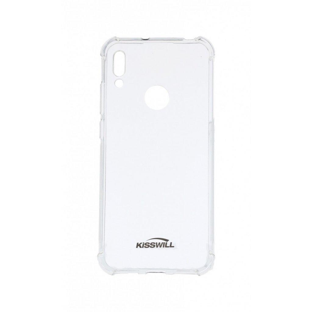 Zadný silikónový kryt KISSWILL Shock na Huawei Y6 2019 priehľadný
