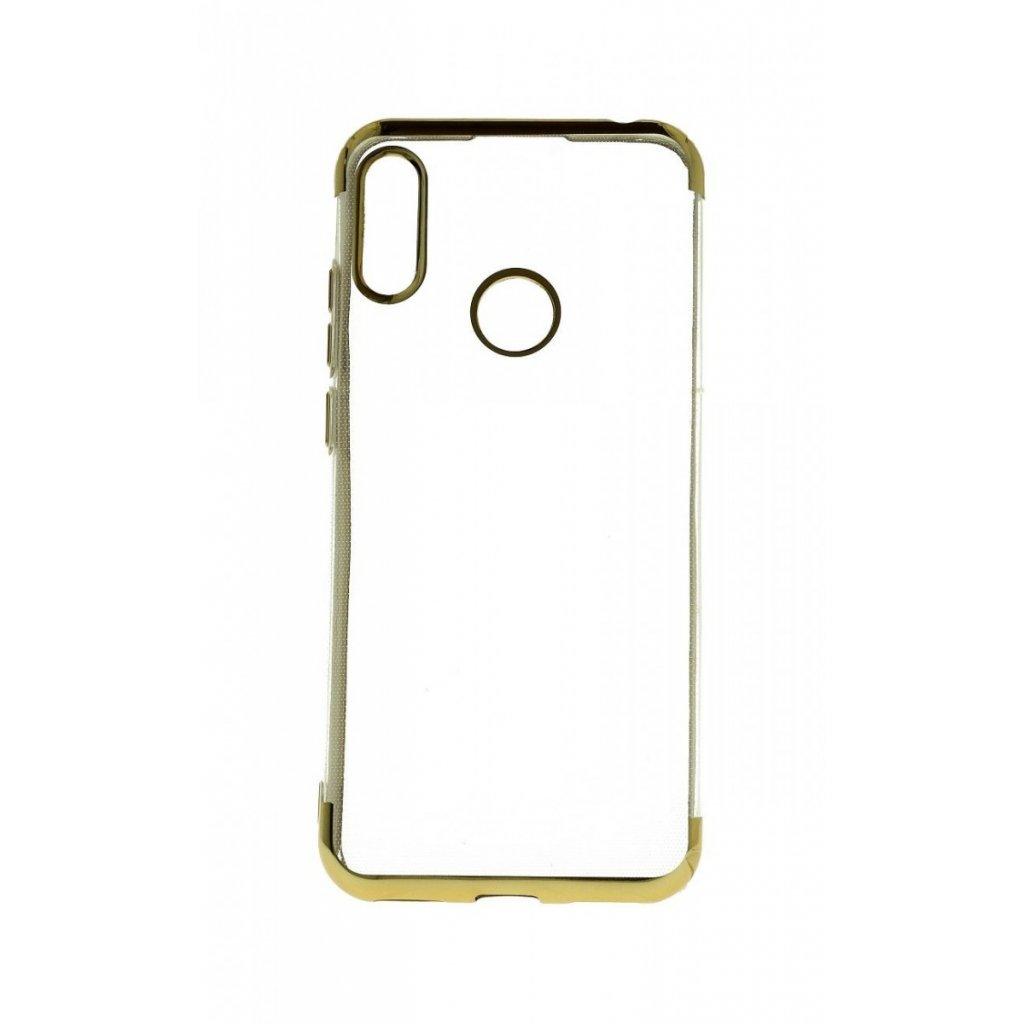 Zadný silikónový kryt na Huawei Y6 2019 Frame zlatý