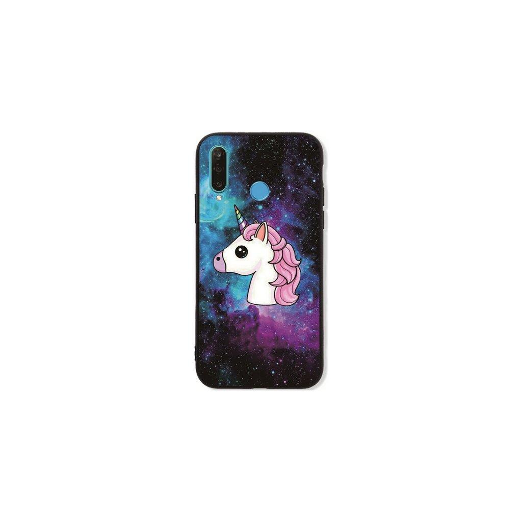 Zadný pevný kryt LUXURY na Huawei P30 Lite Space Unicorn