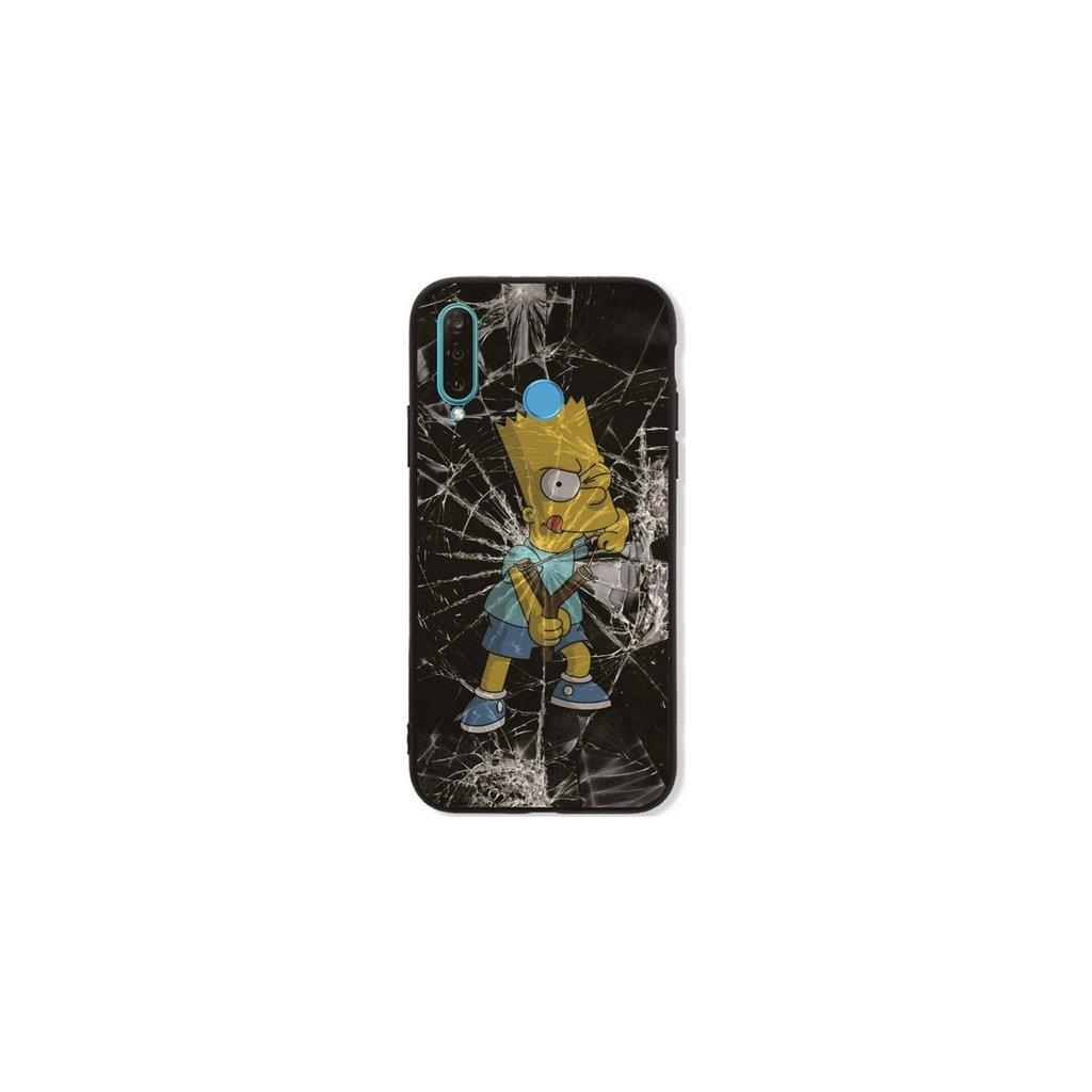 Zadný pevný kryt LUXURY na Huawei P30 Lite Bart Simpson