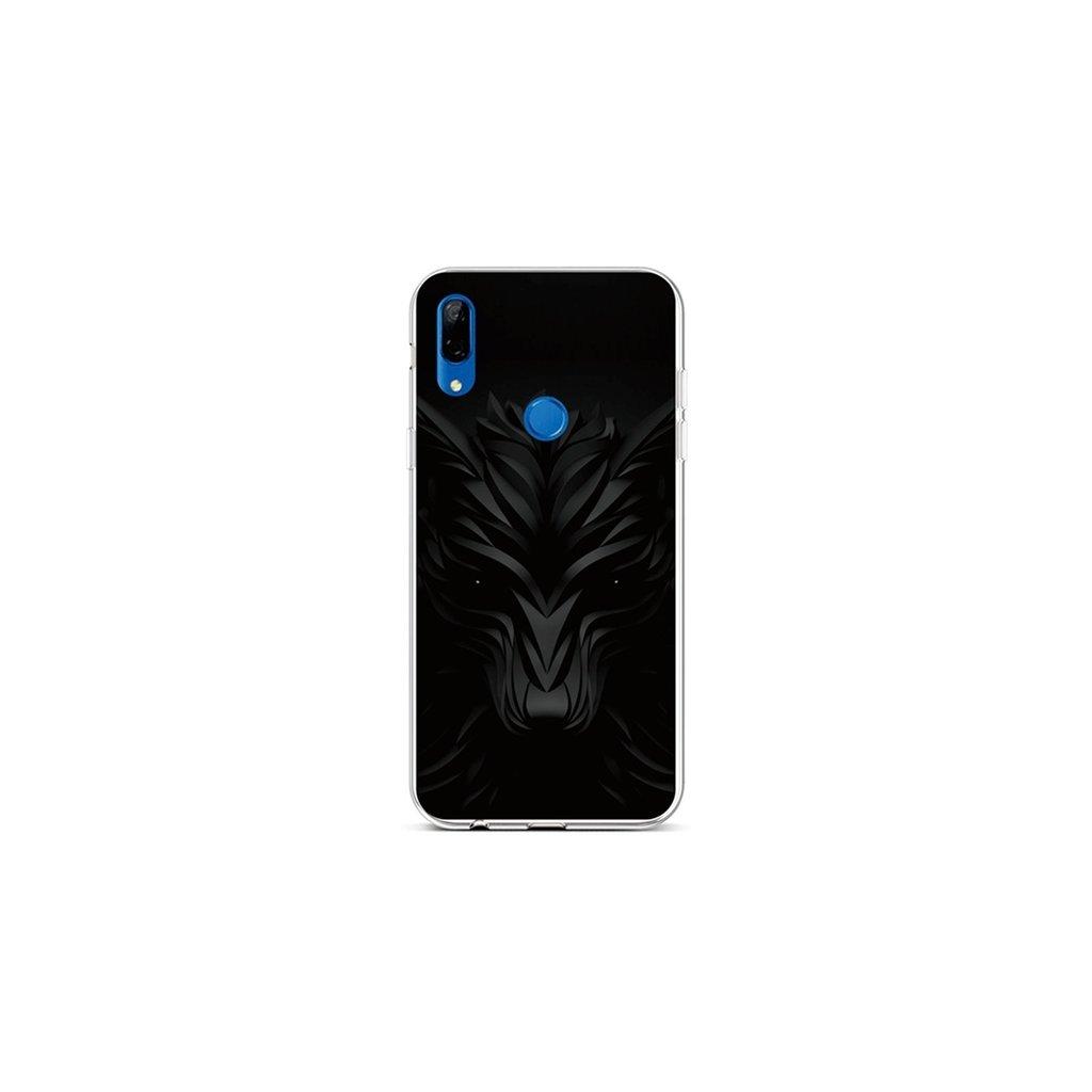 Zadný silikónový kryt na Huawei P Smart Z Čierny vlk