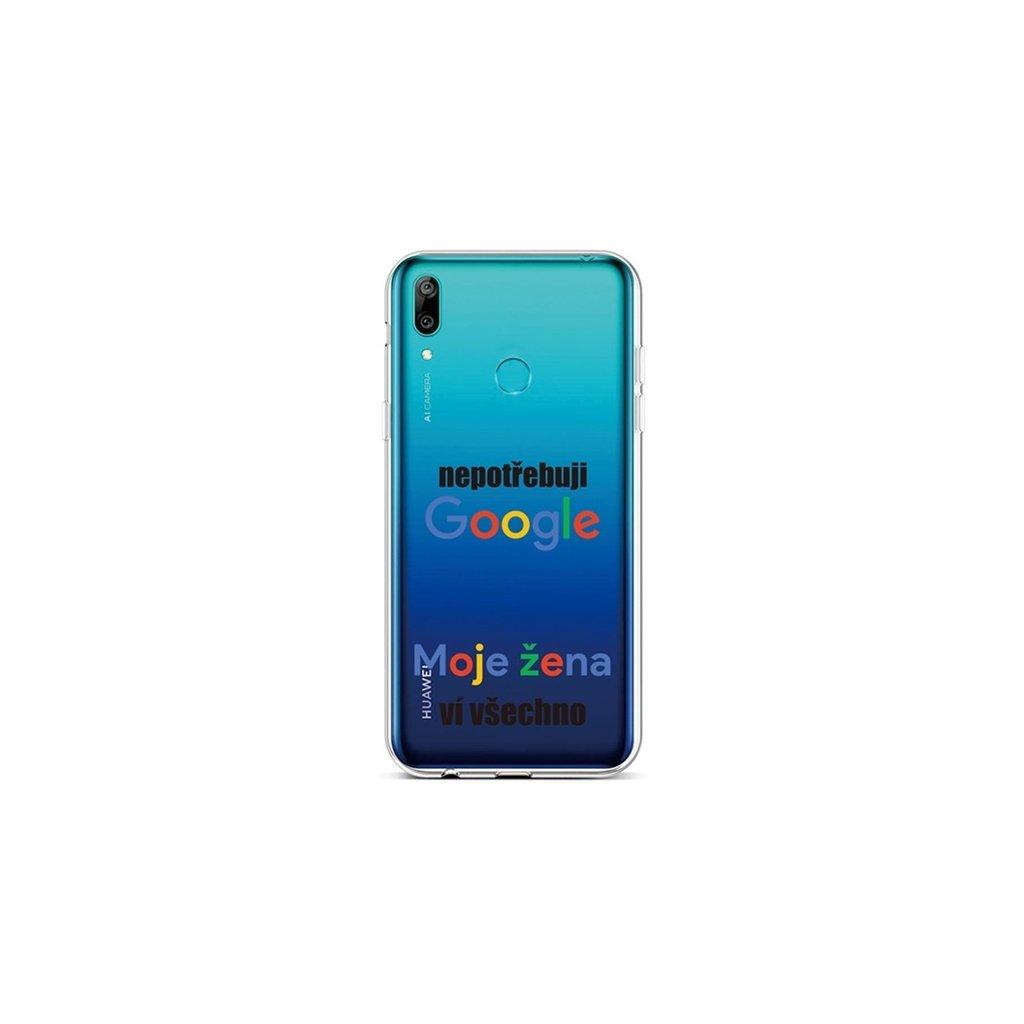 Zadný silikónový kryt na Huawei Y6 2019 Google