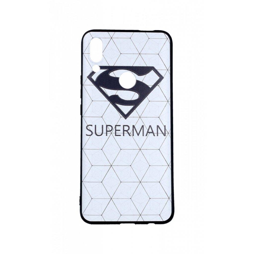 Zadný 3D silikónový kryt na Huawei P Smart Z Biely Superman