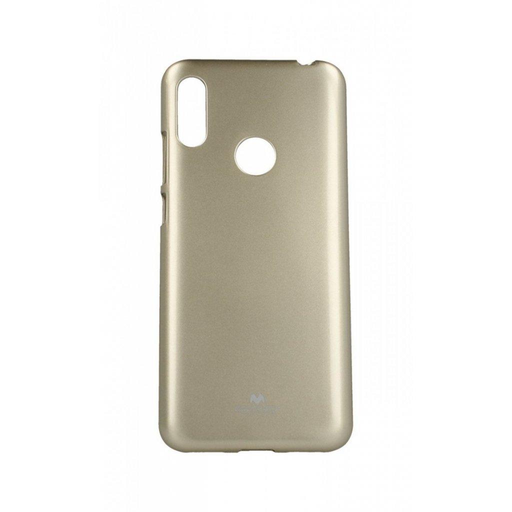 Zadný silikónový kryt Mercury Jelly Case na Huawei Y6 2019 zlatý