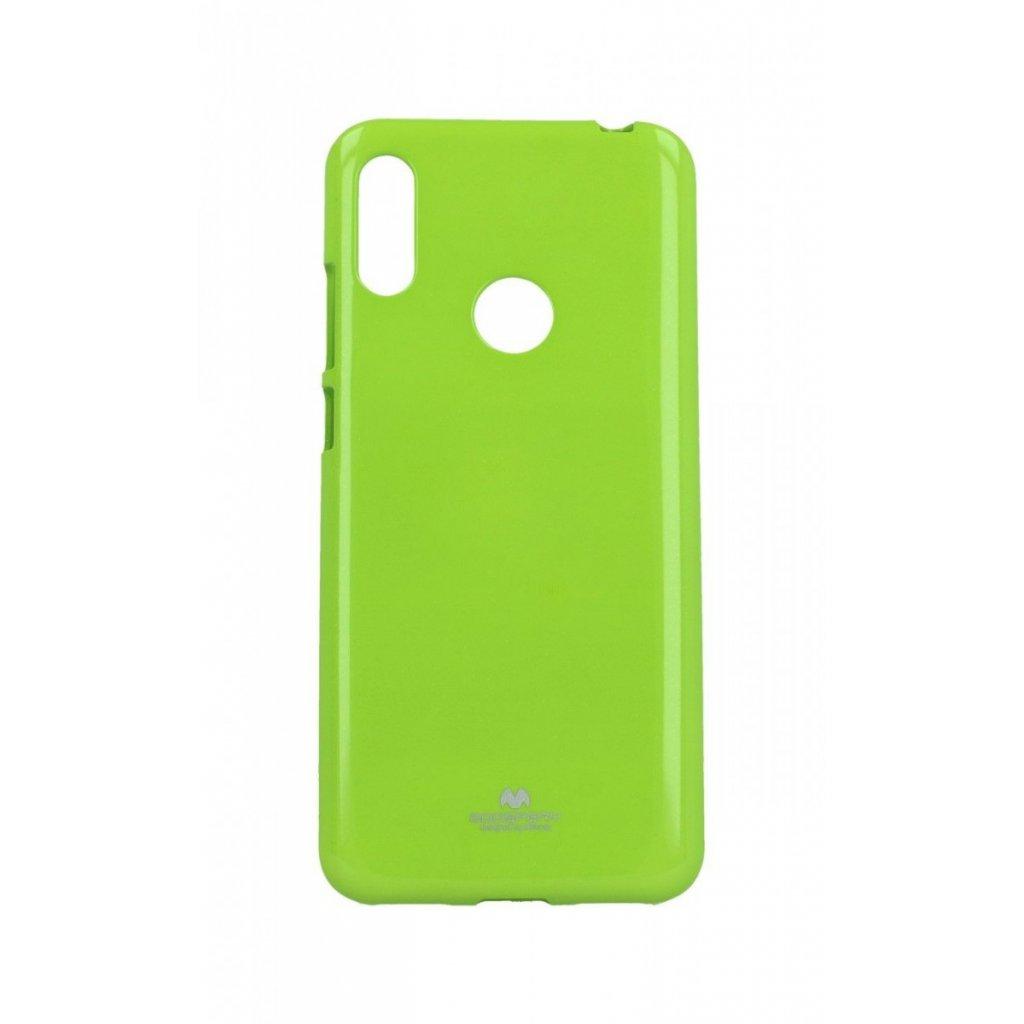 Zadný silikónový kryt Mercury Jelly Case na Huawei Y6 2019 limetkový