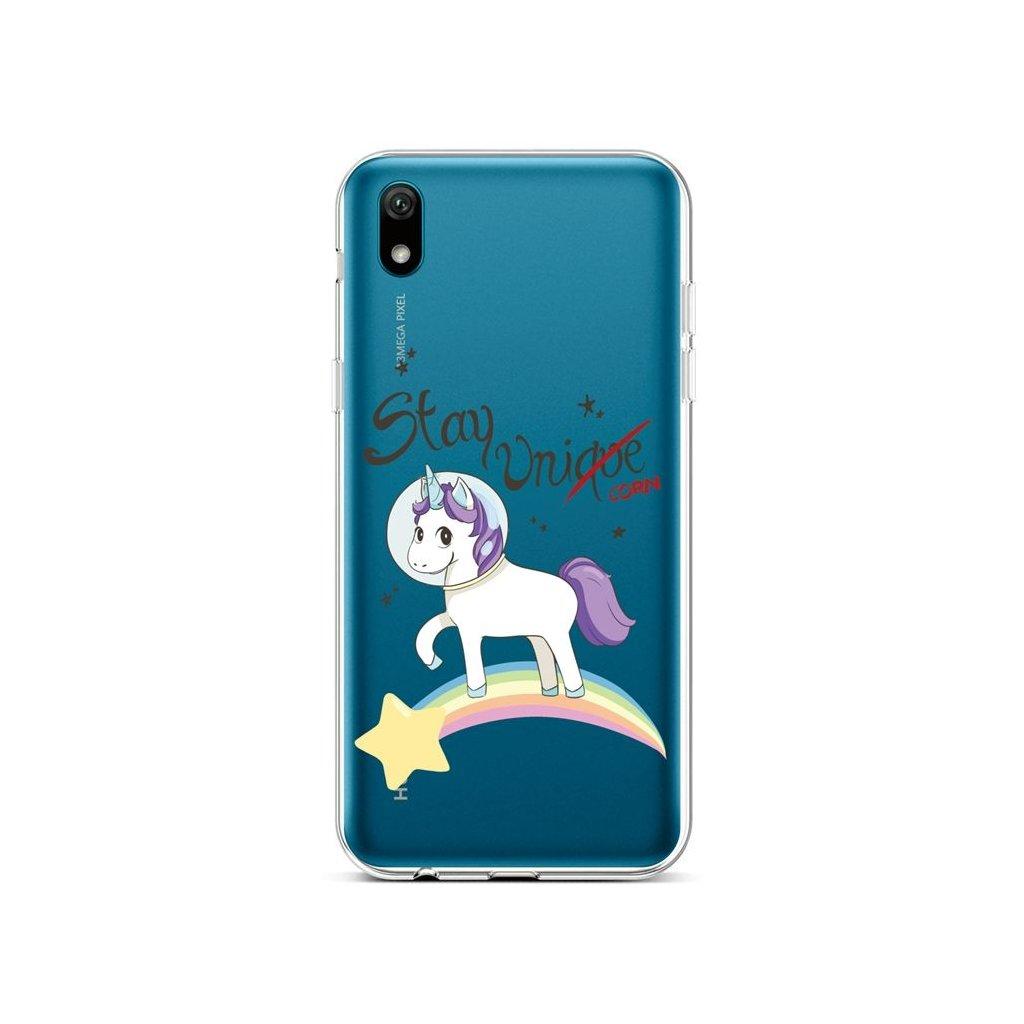 Zadný silikónový kryt na Huawei Y5 2019 Stay Unicorn