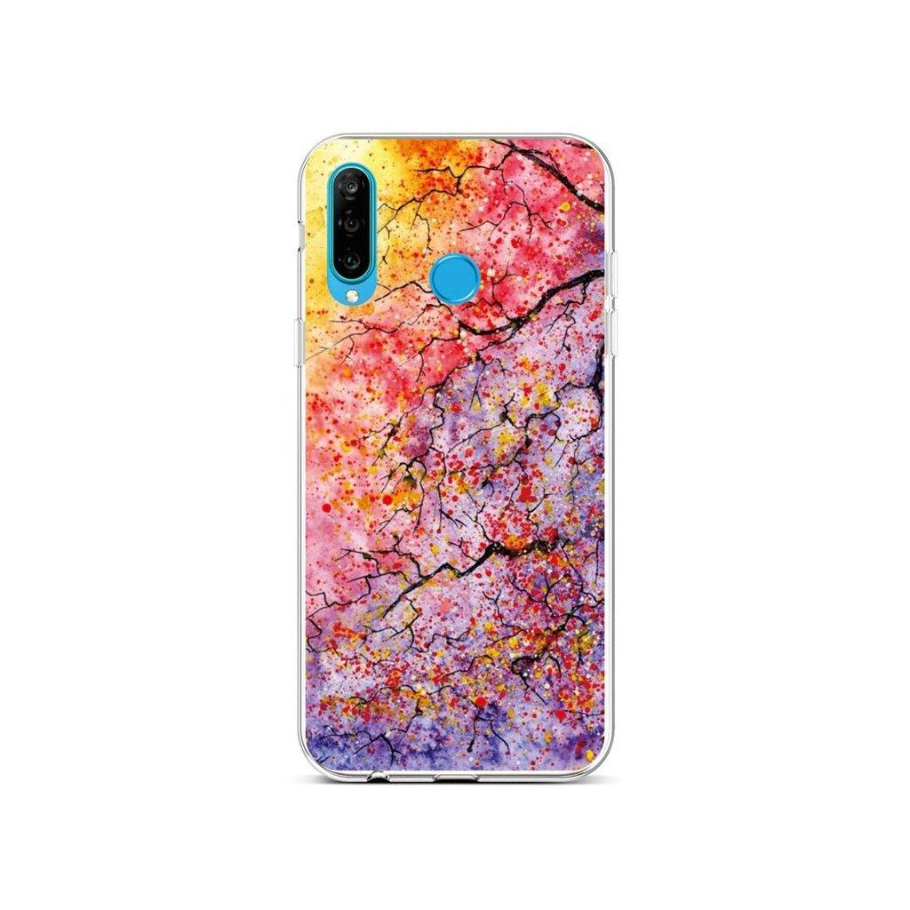 Zadný silikónový kryt na Huawei P30 Lite Abstract Tree