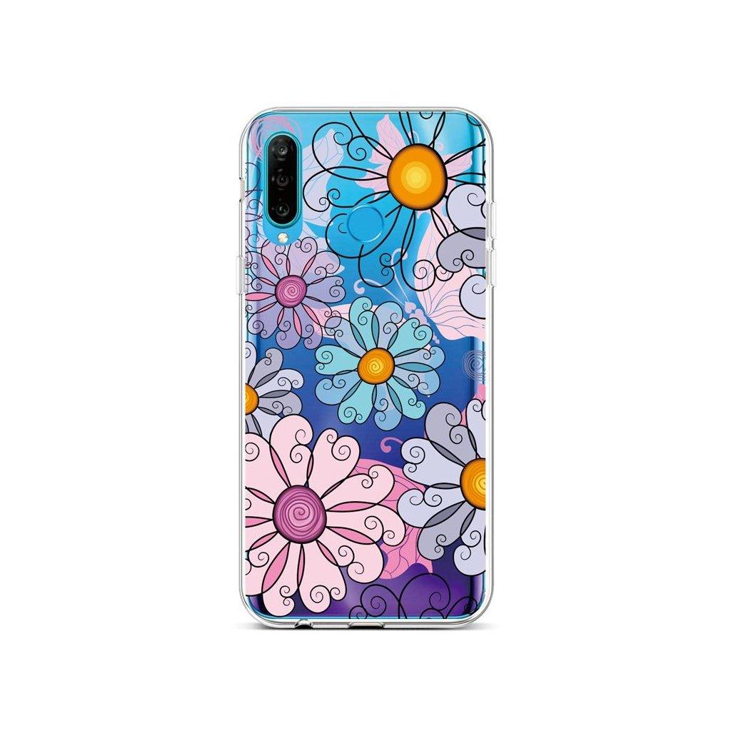 Zadný silikónový kryt na Huawei P30 Lite Colorful Daisy