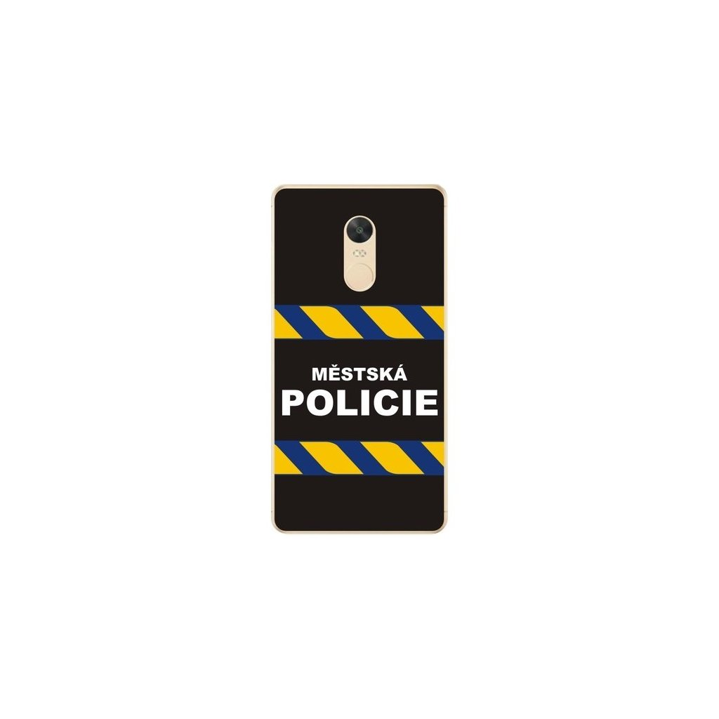 Zadný silikónový kryt na Xiaomi Redmi Note 4 Global Mestská polícia