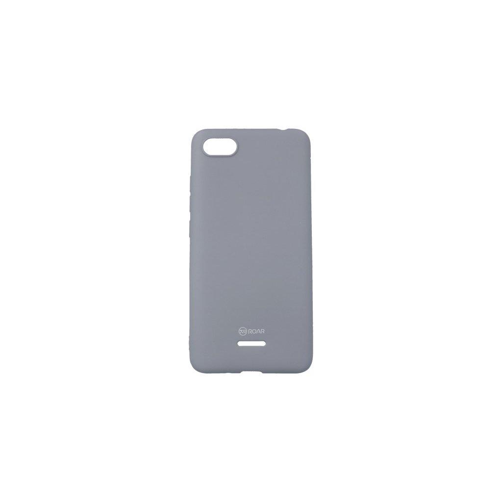 Zadný silikónový kryt Roar na Xiaomi Redmi 6A sivý