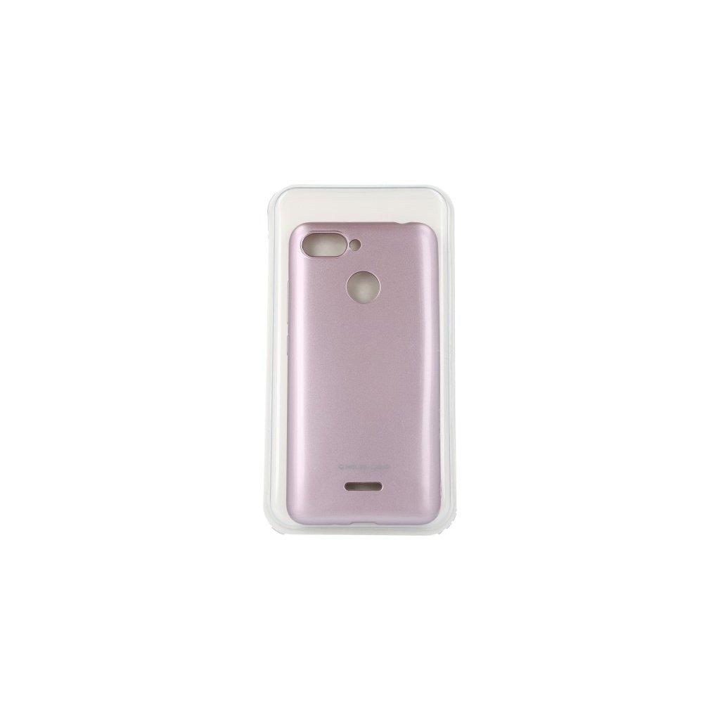 Zadný silikónový kryt Molan Cano Jelly na Xiaomi Redmi 6A ružový svetlý