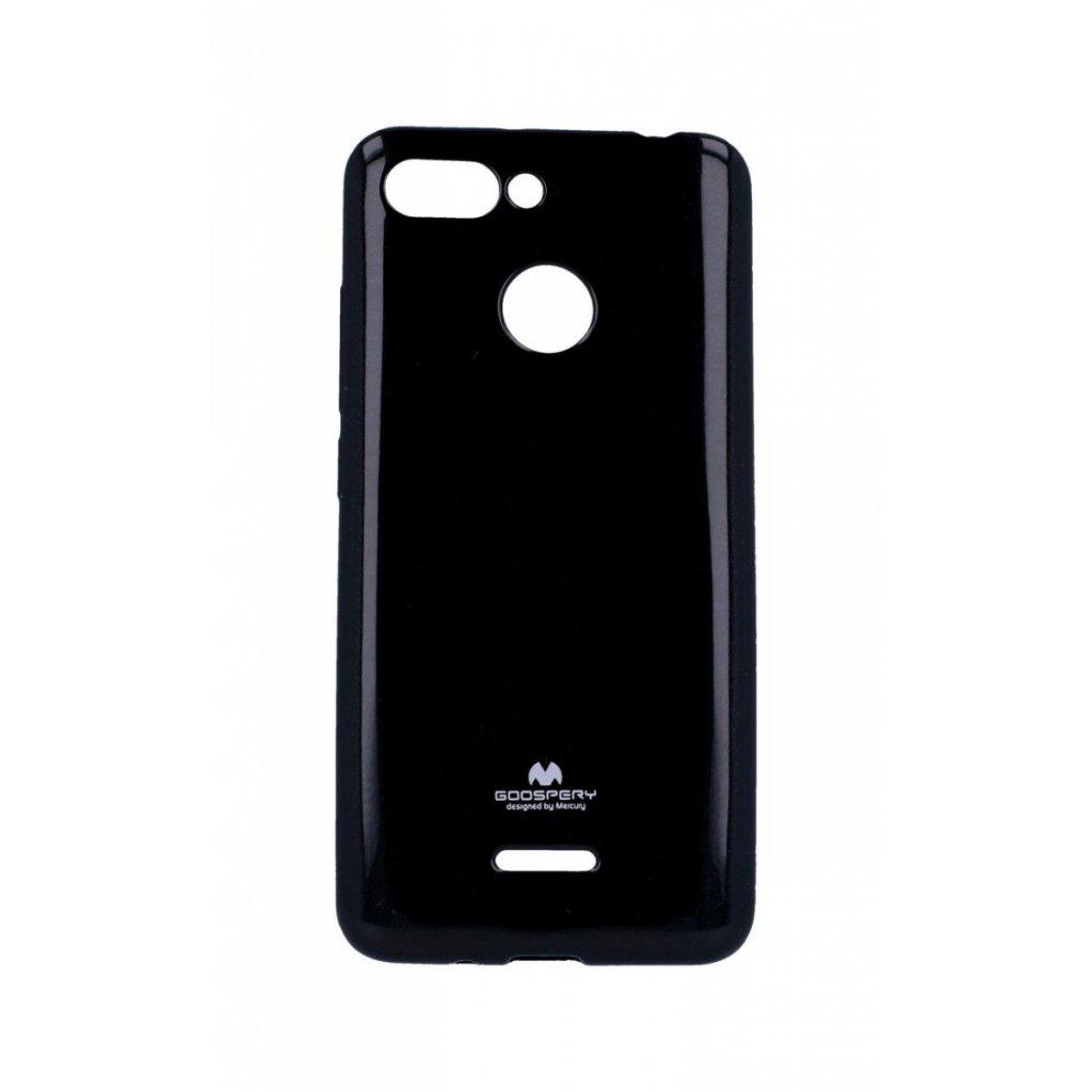 Zadný silikónový kryt Mercury Jelly Case na Xiaomi Redmi 6 čierny