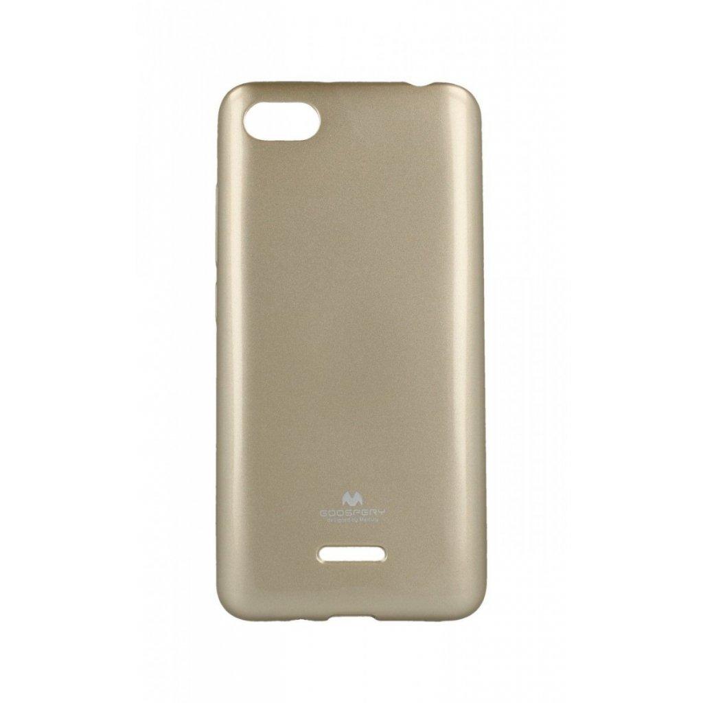 Zadný silikónový kryt Mercury Jelly Case na Xiaomi Redmi 6A zlatý
