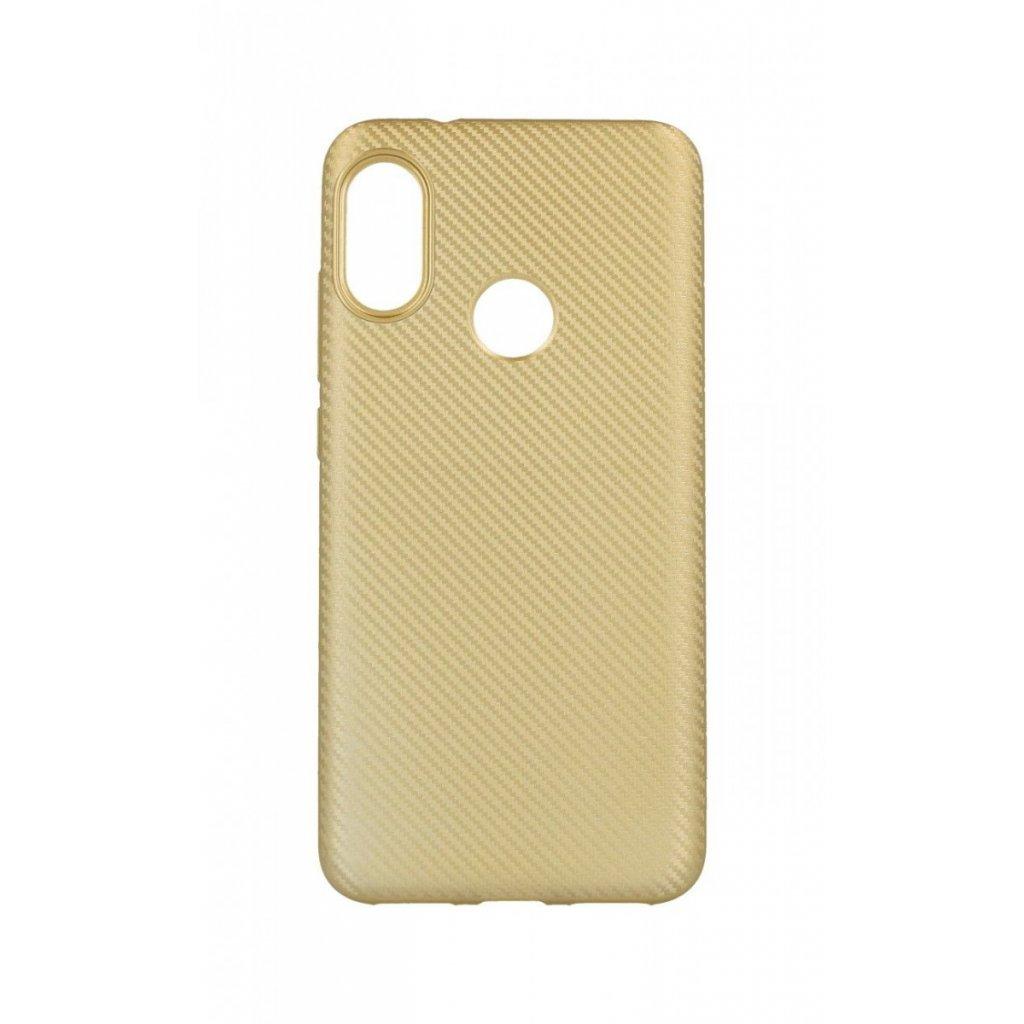 Zadný silikónový kryt na Xiaomi Mi A2 Lite Carbon zlatý